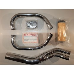 scarico exhaust system racing 2 in 1 suzuki gs 400 1977 1980 Marving
