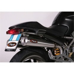 HIGH EXHAUST SILENCERS STEEL APPROVED MARVING DUCATI MONSTER 800 2003-2005